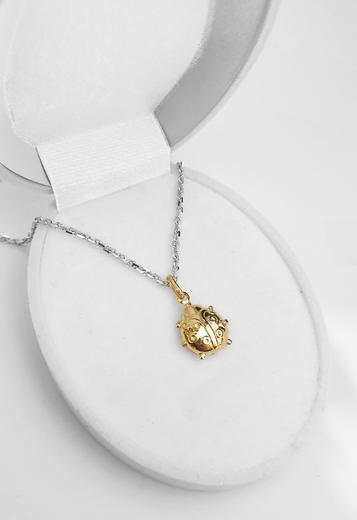 Zlatý přívěšek brouk 062147  - 3