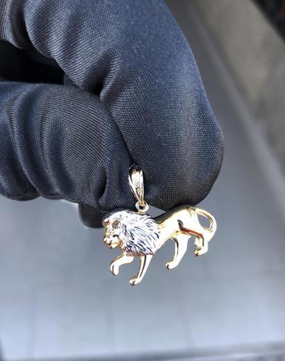 Zlatý přívěšek lev P81  - 3