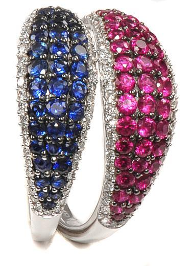 Zlatý prsten s rubíny a diamanty PD2013  - 3