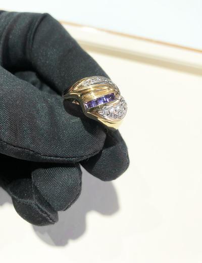 Zlatý prsten se zirkony P783  - 3