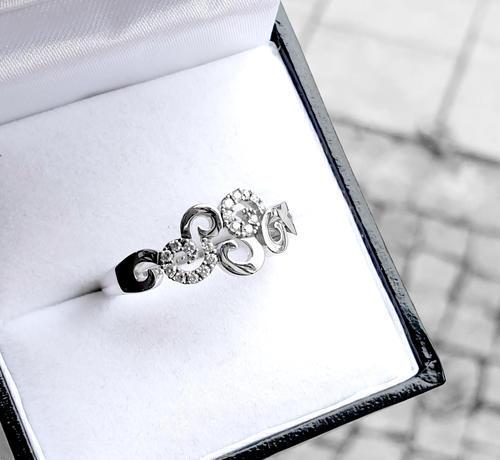 Zlaty prsten s diamanty 039128  - 3