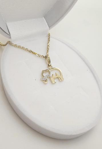 Zlatý přívěšek sloník 068276  - 3
