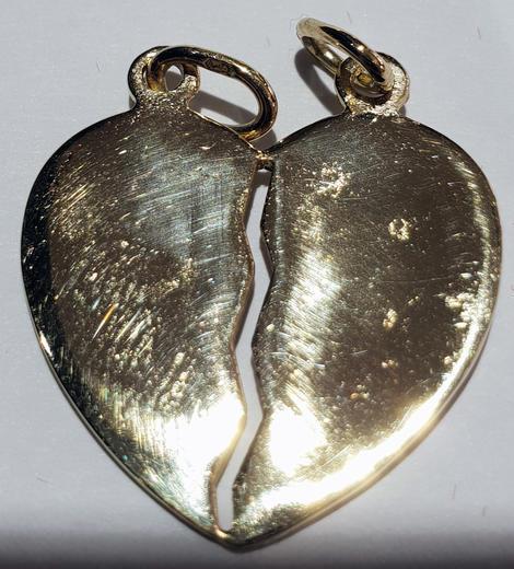 Zlatý přívěšek milenecké srdce P248  - 3