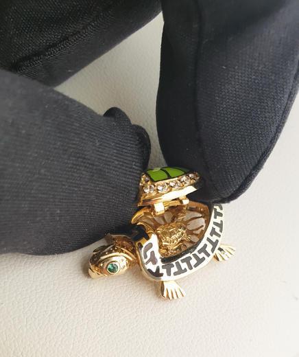 Zlatý přívěšek želvička 20900  - 3