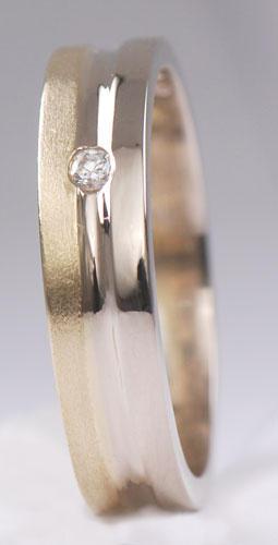 Zlaté snubní prsteny S17  - 3