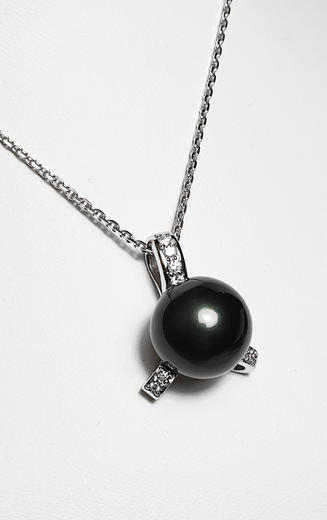 Zlatý přívěšek s tahitskou perlou TAHITI 023377  - 3