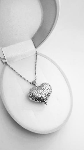 Zlatý přívěšek srdce 068227  - 3