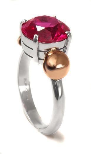 Zlatý prsten s rubínem P1013  - 3