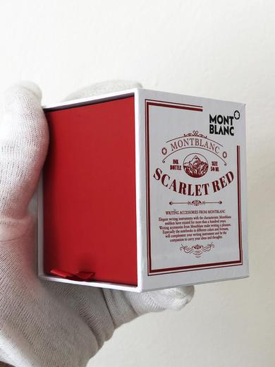 MONTBLANC inkoust SCARLET RED SHERLOCK 128079  - 4