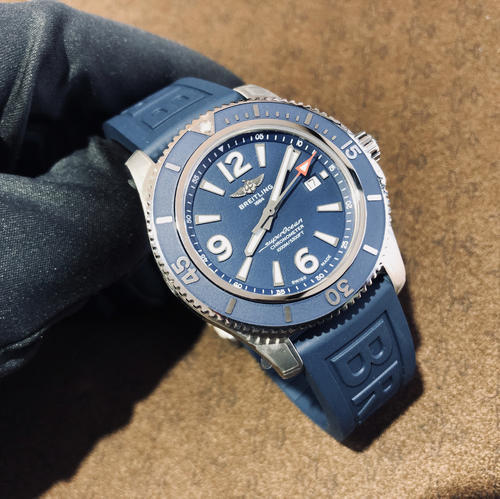 BREITLING SUPEROCEAN II 44 blue A17367D81C1S1  - 4