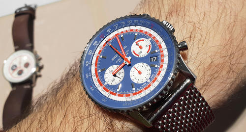 BREITLING NAVITIMER B01 Airline Edition PAN AM AB01212B1C1A1  - 4