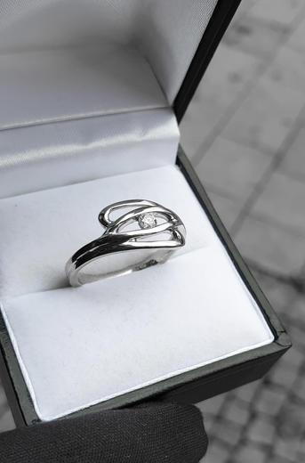 Zlatý prsten s diamantem PD299  - 3