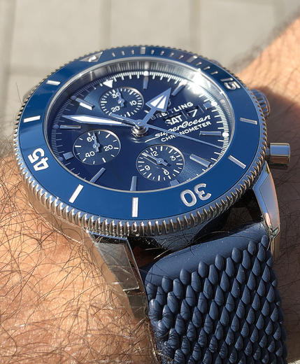 BREITLING SUPEROCEAN HERITAGE II Chronograph 44 A13313161C1A1  - 4