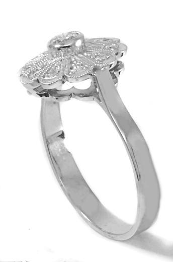 Zlatý prsten s diamanty PD356  - 4