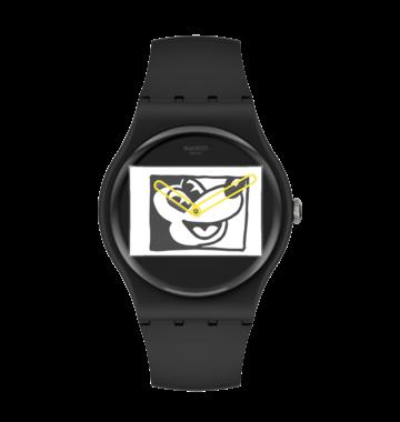 Swatch hodinky MICKEY BLANC SUR NOIR SUOZ337  - 4