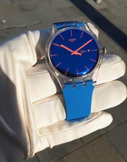 SWATCH hodinky SUOK711 POLABLUE  - 4
