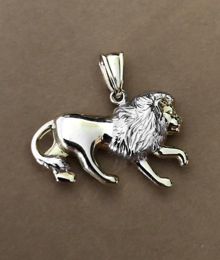 Zlatý přívěšek lev P81  - 4