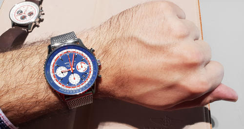 BREITLING NAVITIMER B01 Airline Edition PAN AM AB01212B1C1A1  - 5