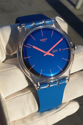 SWATCH hodinky SUOK711 POLABLUE  - 5