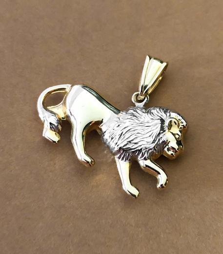 Zlatý přívěšek lev P81  - 5