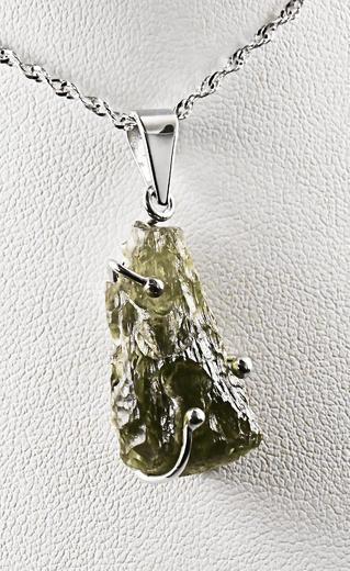 Zlatý přívěšek s vltavínem 023621  - 5