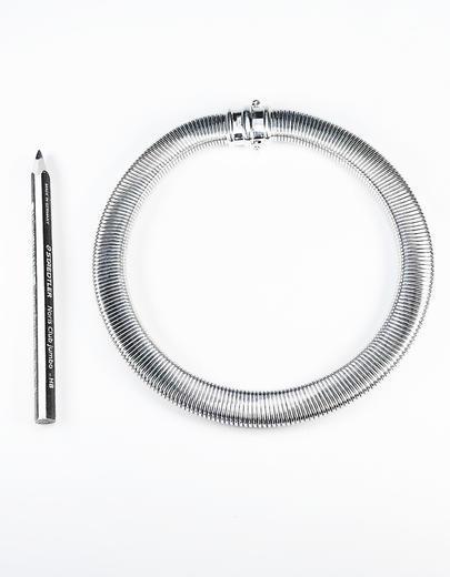 Stříbrná souprava Obojek náhrdelník a náramek 22072021  - 5