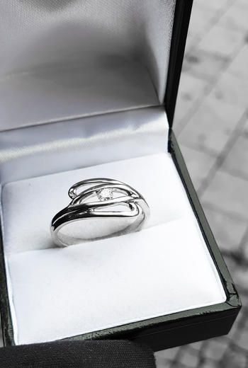 Zlatý prsten s diamantem PD299  - 4