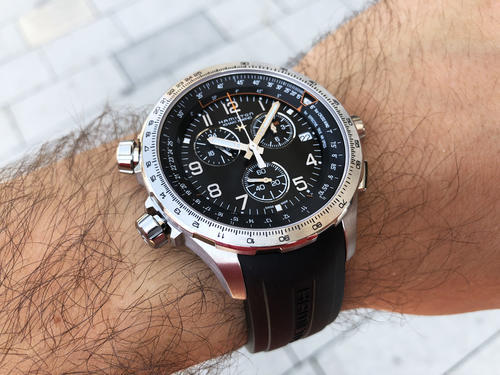 HAMILTON Khaki aviation X-Wind GMT Chrono H77912335  - 6