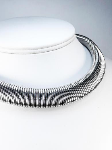 Stříbrná souprava Obojek náhrdelník a náramek 22072021  - 6