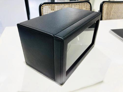 Wolf Cub double černá kůže 461203 výstavní kus watchwinder  - 7