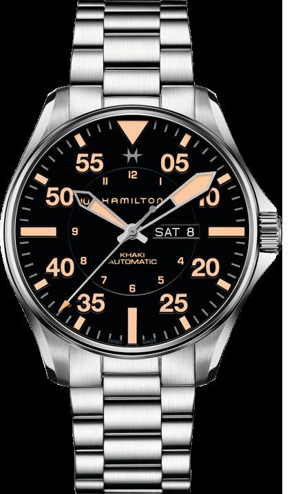 2a82be9b8 Hamilton Khaki Aviation Day Date H64725131 - GoldEligius
